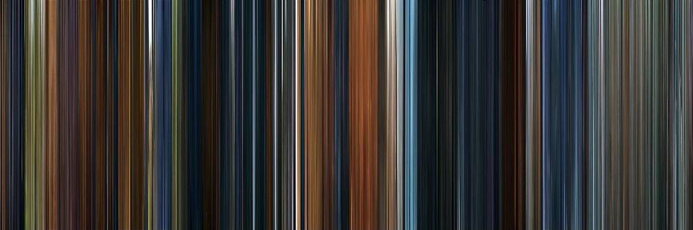 """Fellowship of the Ring ""movie barcode"", a slice of every single frame from the movie."" by iBaconized"