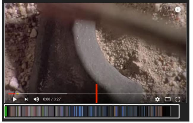 A Youtube video screenshot with a moviebarcode navigation box underneath